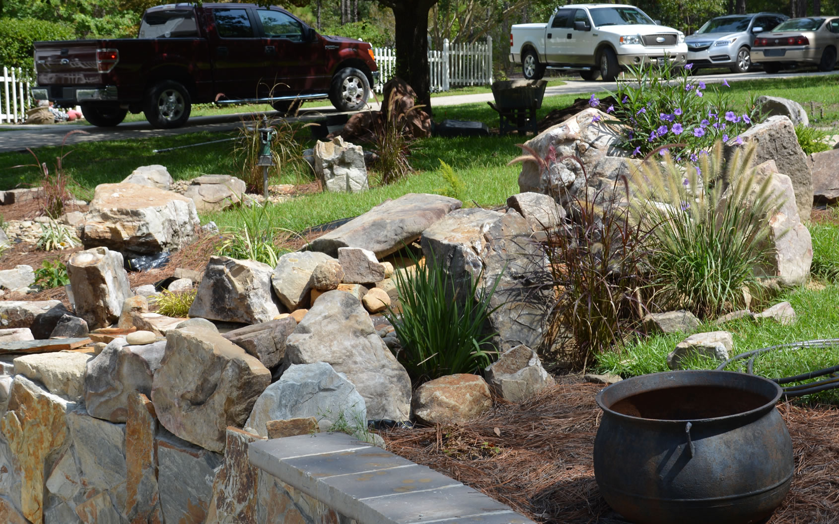 Landscape design hardscape by columbia and charleston for Landscaping rocks columbia sc